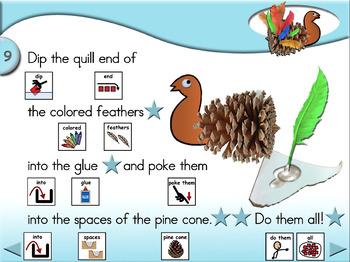 Pine Cone Turkeys - Animated Step-by-Step Crafts SymbolStix