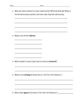 Pine Park Mystery Vocab & Comprehension Review