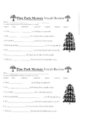 Pine Park Mystery Worksheets