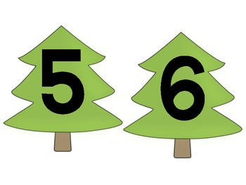 Pine Tree Classroom Table Numbers