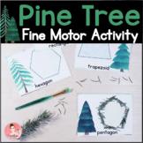 Pine Tree Fine Motor Activity for Kindergarten