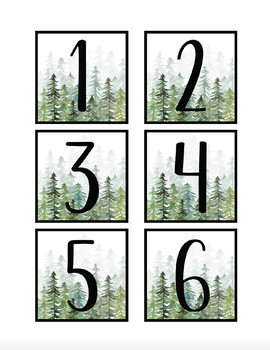 Pine Tree Forest Book Bin Labels