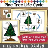 Pine Tree Life Cycle File Folder Games
