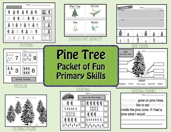 pine tree unit of fun by nicole mcallister teachers pay teachers rh teacherspayteachers com Pine Tree Diagram Labeled Pine Tree Drawings