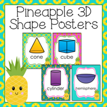 Pineapple 3D Shape Posters
