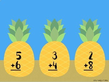 Pineapple Addition Practice (Great for Google Classroom!)