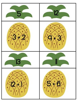 Pineapple Addition with Recording Sheet