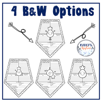 Pineapple All about Me Pennants: Back to School Writing Activity