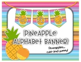 **FREEBIE** Pineapple Alphabet Banner - Pineapple Theme -