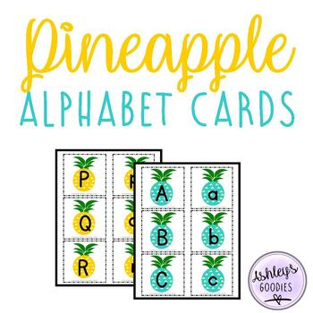 Pineapple Alphabet Cards