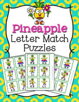 Pineapple Alphabet Letter Match Puzzles