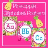 Pineapple Classroom Decor Alphabet Posters