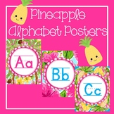 Pineapple Classroom Decor Alphabet Posters