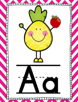 Pineapple Alphabet Posters