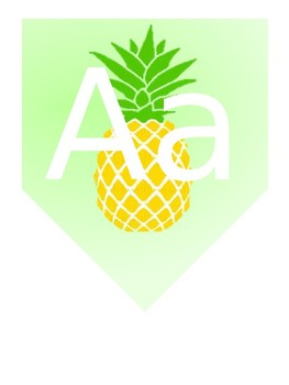 Pineapple Alphabet and Group Numbers