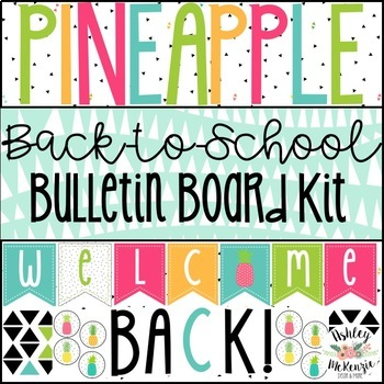 Pineapple Back-to-School Bulletin Board Kit