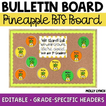 Pineapple Back to School Display {Editable}