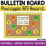Pineapple Back to School Display {Editable}