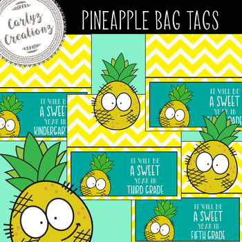 Pineapple Goodie Bag Tags