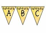 Pineapple Banner, Pineapple classroom decor, Tropical Decor, pdf
