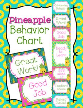 Pineapple Behavior Chart