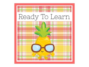 Pineapple Behavior Chart  | Pineapple Theme Behavior Chart