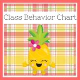 Pineapple Classroom Theme | Behavior Chart