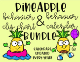Pineapple Behavior Chart and Calendar BUNDLE