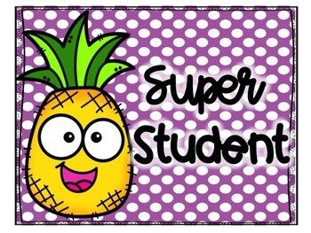 Pineapple Polka Dot Behavior Clip Chart