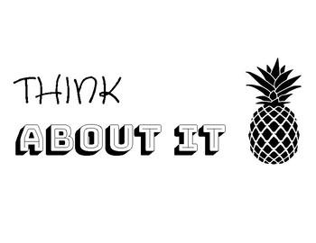 Pineapple Behavior Clip Chart B&W