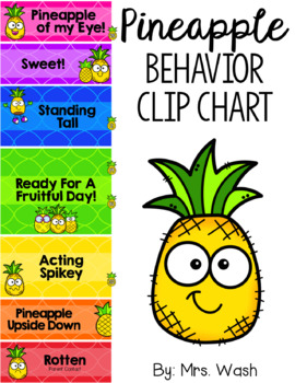 Pineapple Behavior Clip Chart *WITH Parent Note & Calendar in English/Spanish*