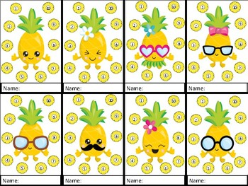 Pineapple Behavior Punch Cards