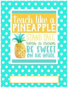 Pineapple Binder Cover
