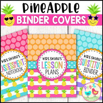 Pineapple Binder Covers