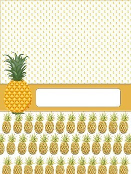 Pineapple Binder Covers + Spines EDITABLE & FREE