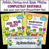Pineapple Binder/Folder Covers and Desk Plates COMPLETELY