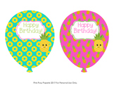 Pineapple Birthday Balloons