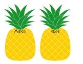 Pineapple Birthday Chart