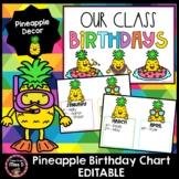Pineapple Birthday Chart EDITABLE