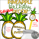 Pineapple Birthday Decor & Display EDITABLE