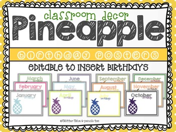 Pineapple:  Birthday Posters