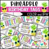 Pineapple Birthday Tags