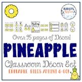 Pineapple Theme Classroom Decor Set: Back to School Tropical Theme Classroom