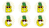 Pineapple Boggle Letters