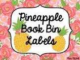 Pineapple Book Bin Labels- EDITABLE