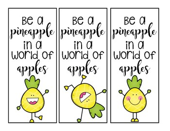 Pineapple Bookmark Freebie