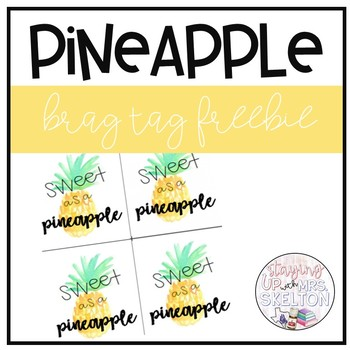 Pineapple Brag Tag Freebie