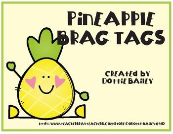 Pineapple Brag Tags