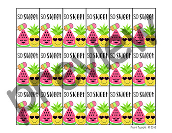 Pineapple Brag Tags Sample Pages