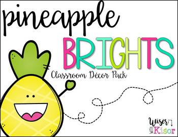 Pineapple Brights Classroom Decor Pack